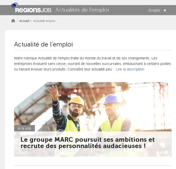 L'un des plus grands sites de recrutement